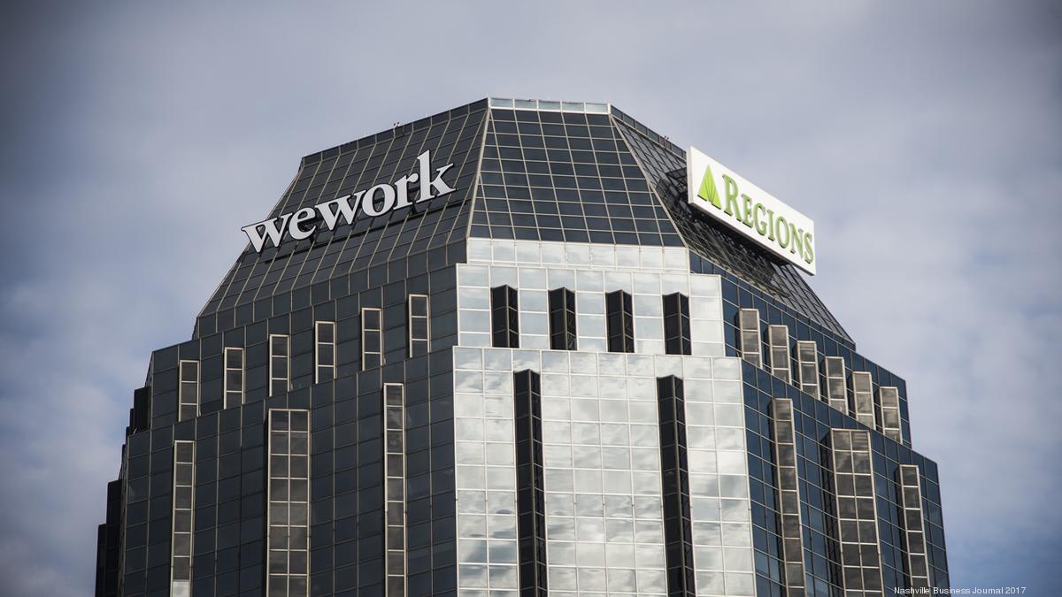 working giant wework  regions banks battle  controversial downtown nashville signs