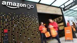 Amazon Go is busting with business at ground zero at the massive Day-1 skyscraper at 2121 7th Ave. of the company's headquarters in Seattle, Jan. 22, 2018.