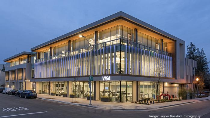 Visa-leased mixed-use building in Palo Alto sells to L.A. investor