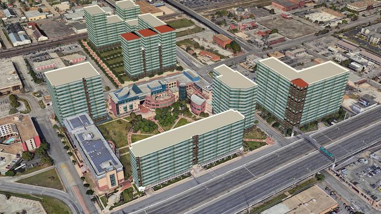 Previous conceptual rendering of how UTSA has room to grow its downtown  campus. 9f3ef585f