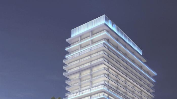 $150M Millennial Tower (now with a smaller LED sign) gets green light from city