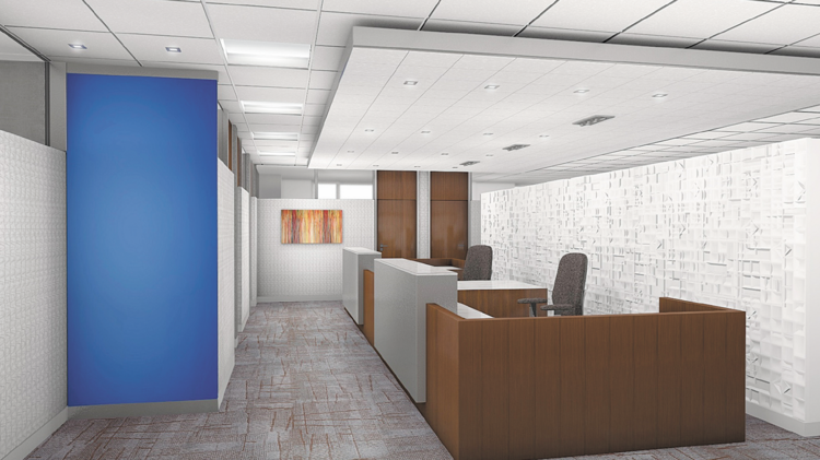 The Rendering Of Dinsmoreu0027s New Administrative Space Is Brighter And More  Modern.