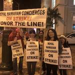 Thousands of Kyo-ya Waikiki hotel employees begin strike to protest outsourcing