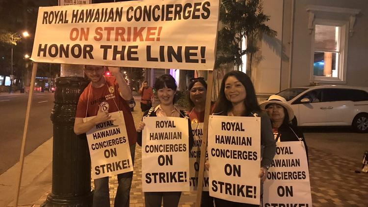 Nearly 2 300 Hawaii Hotel Employees Did Not Go To Work Today As Part Of A Strike