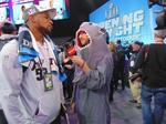 Sights and sounds: Patriots, Eagles interact with media, fans at Super Bowl Opening Night