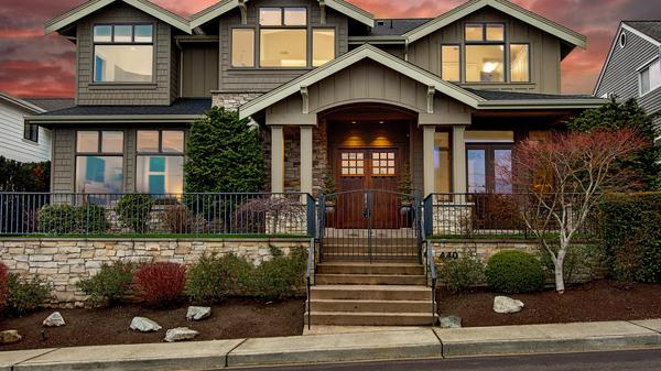 Timeless Design West of Market with Spectacular Views of Lake Washington and Beyond