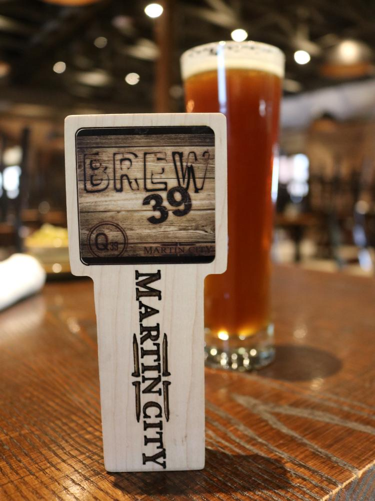 Q39 teamed up with Martin City Brewing Co. to offer an exclusive collaboration beer called Brew 39.