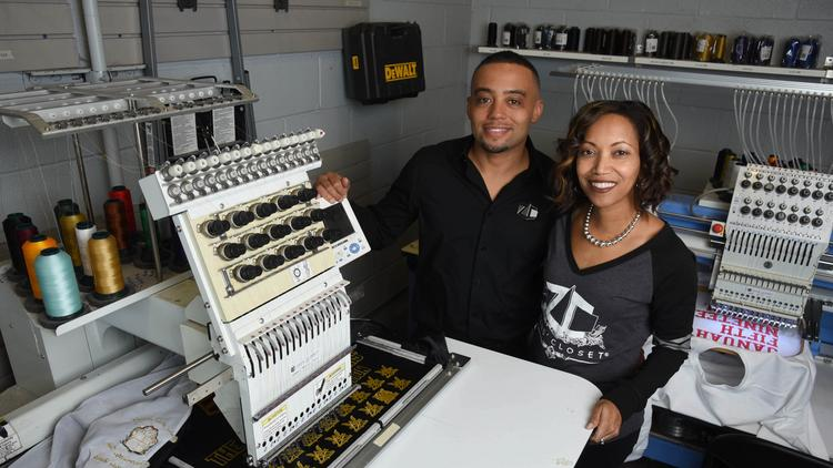 Ethan King Allen And His Wife Monica Own Zeusu0027 Closet Custom Apparel Store  In West