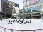 Picture This: Yoga on ice in downtown Denver? Call it Snowga (Photos)