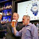 Rauner toasts state's bicentennial craft brew