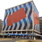 Crystal City buildings go under wraps