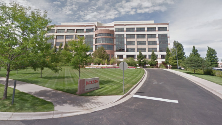 Jackson's current office building at 7601 Technology Way in the Denver Tech Center.