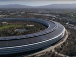 Latest Apple Park drone video shows near-complete 'spaceship'