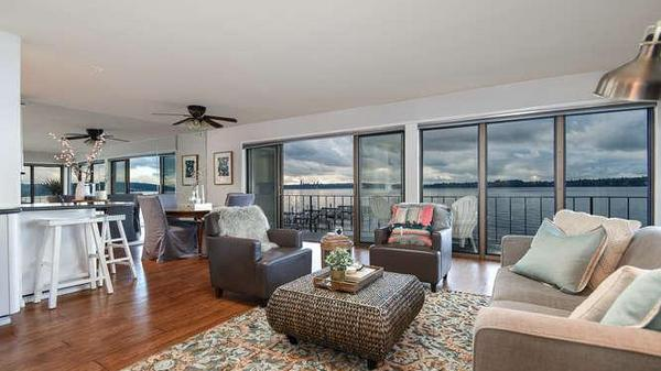 Waterfront Living in Kirkland with 180 Degree Unobstructed Views of Lake Washington