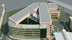 Rendering of the $412 million new research center at St. Jude Children's Research Hospital