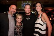 Dantanna's co-owner David Clapp, Rally Foundation President Dean Crowe, Chipper Jones and Jenny Meyers.
