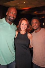 Former NFL player Vonnie Holliday, Jamie Annarino and former Falcon Warrick Dunn.