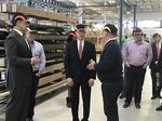Sen. Toomey visits Delaware County factory to tout GOP tax overhaul