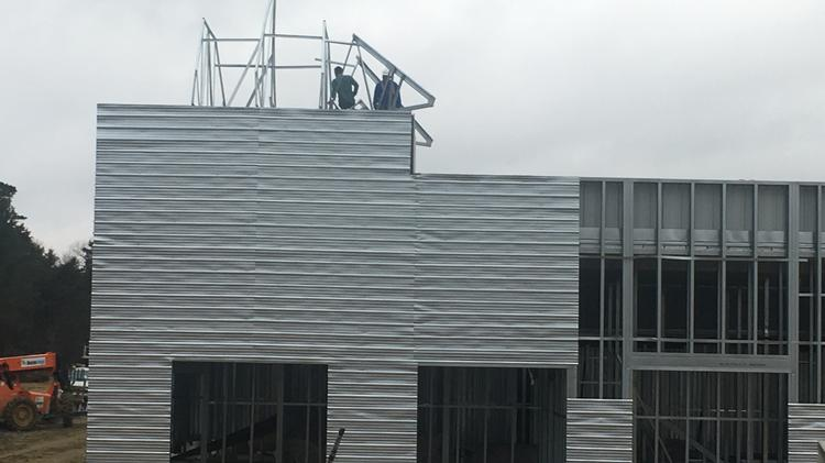 Construction Crews With Fourth Elm Construction Work On A AAA Self Storage  Facility On Eastchester