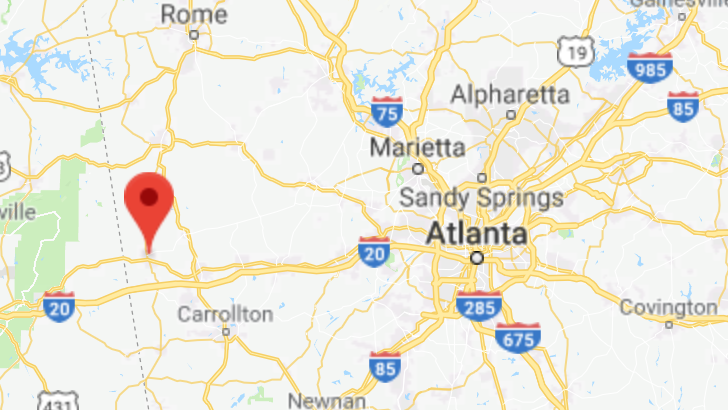 Map Of Georgia For Kids.720 Acre West Georgia Property Planned Retreat For Disadvantaged