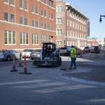 Downtown is almost ready for an influx of basketball fans