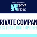 Learn more about the 2018 Top Corporate Counsel finalists for private companies with less than 1,000 employees