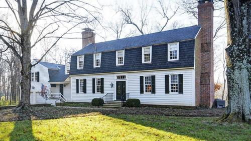 Feel like you're living in Colonial Virginia in this Fred H. Elswick designed home on 6.12 acres