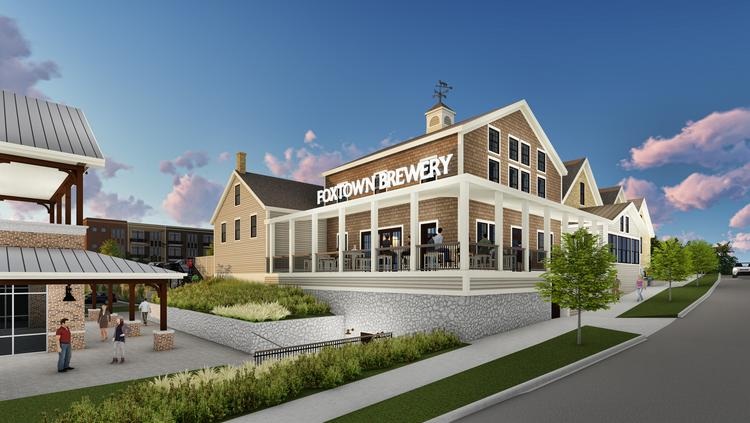 A Rendering Shows The Renovated Brewery Building, With Its Outdoor  Restaurant Patio Facing Mequon Road