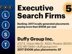 Top of the Phoenix Lists: Executive Search Firms