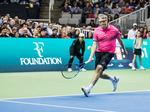 Photos: Bill Gates, Roger Federer play at celebrity charity tennis tournament at SAP Center