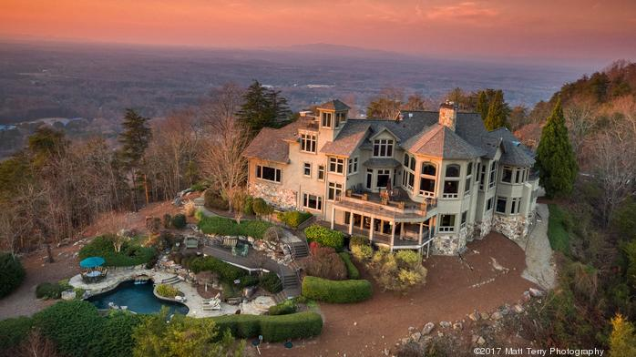 $9.5M listing: In this home atop Sawnee Mountain, it's 'all about the view' (Photos)