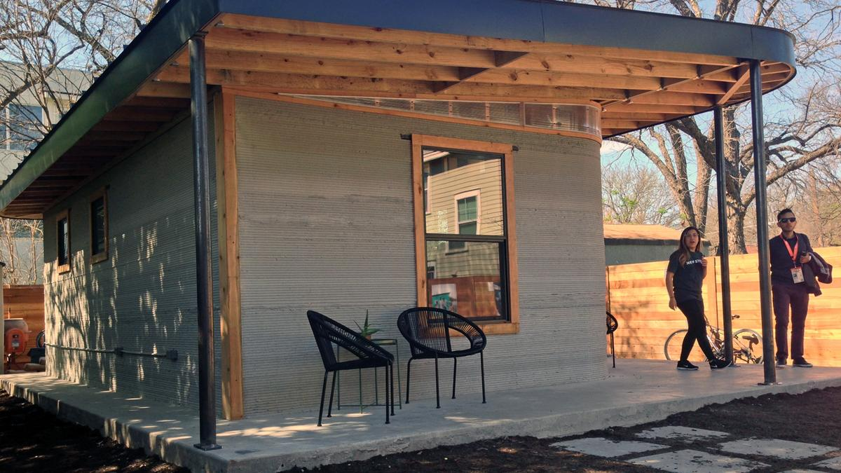 Inside A 3D Printed Tiny Home That Costs Less Than A Car At SXSW In Austin    Austin Business Journal