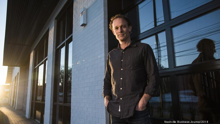 John Bass, founder and CEO of Hashed Health, at his offices at WeWork in East Nashville.