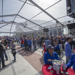 Wichita Business leaders take in 'celebratory zone' around Intrust Bank Arena