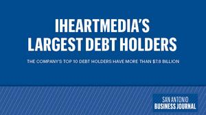 Who holds iHeartMedia's debt?