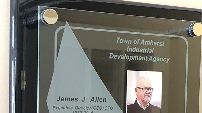 Amherst IDA dedicates room to Jim Allen