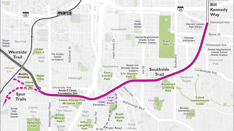 The Beltline Atlanta Map.Beltline Engineer 11 Months Before Southside Trail Opens For Hiking