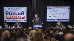 Snap-on Inc. CEO Nick Pinchuk was the keynote speaker at the Milwaukee Business Journal's Power Breakfast Friday.