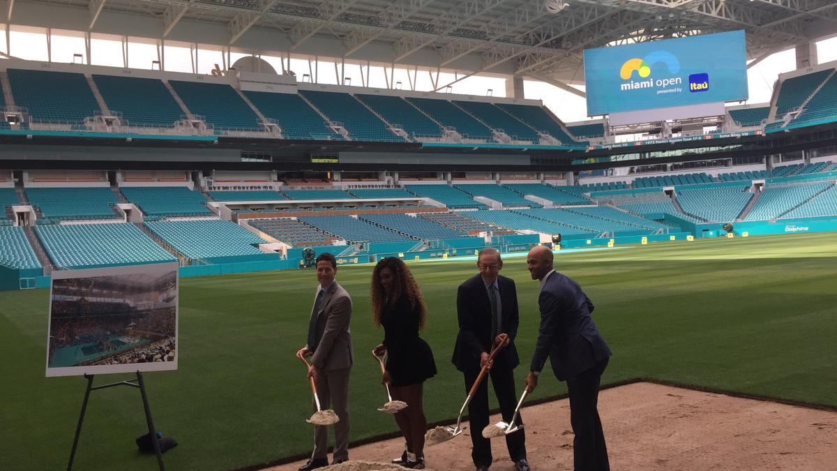 6c114418 Miami Open tennis venue breaks ground at Hard Rock Stadium - South ...