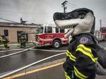 Photos: Fire hits vacant warehouse near SAP Center