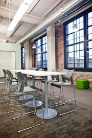 The office furniture is from Synergy Business Environments.