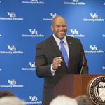 University at Buffalo athletics leader Mark Alnutt has long to-do list