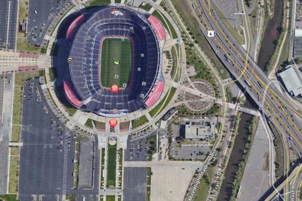 b0e15110 Denver officials take wraps off Broncos stadium parking lot ...