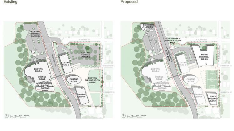 Adidas provided this before and after plan for the buildout of its campus  in North Portland ca5be1bc1e59