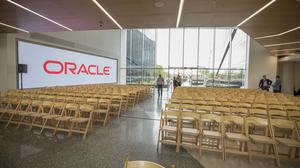 CEO Mark Hurd and Larry Ellison, Oracle's co-founder and executive chairman, were both in town for the opening.