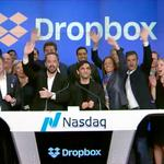 Shares of Dropbox soar 37 percent on its 1st day of trading in the biggest tech IPO of 2018