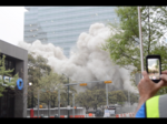 Implosion topples downtown Austin high-rise building (Video)
