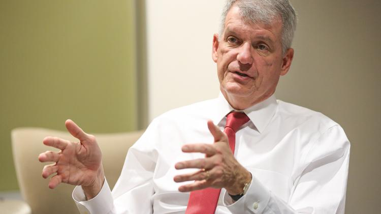 Wells Fargo, led by CEO Tim Sloan, is taking this year's annual meeting to the Dallas-Fort Worth airport.