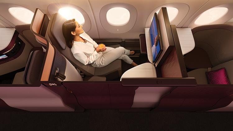 Qatar Airways offers its QSuite business class product on long-haul flights between Doha and Chicago, New York and Washington, D.C.