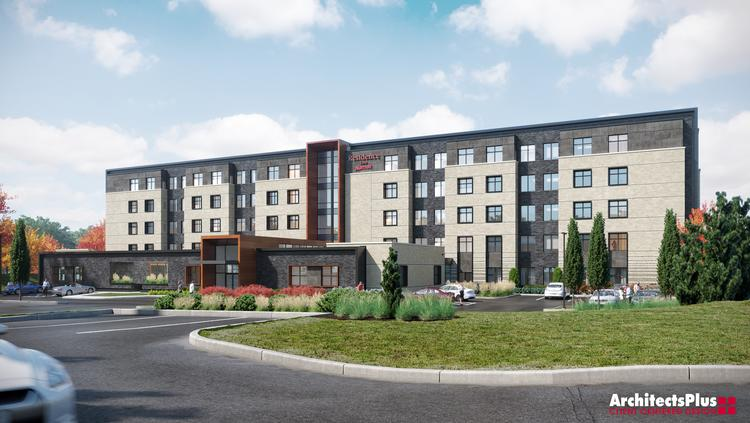 This Rendering Shows The 106 Room Residence Inn By Marriott Hotel That Is Being Built